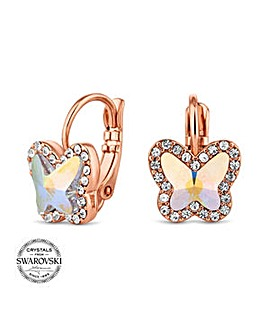 Jon Richard pave mini butterfly earring