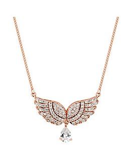 Jon Richard pave angel wing necklace