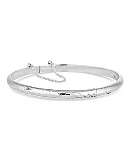 Simply Silver diamond cut bangle