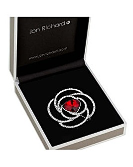 Jon Richard crystal floral brooch