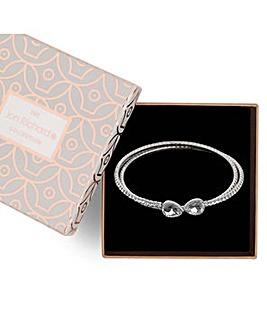 Jon Richard diamante coil bracelet
