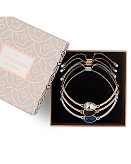 Jon Richard diamante toggle bracelet set