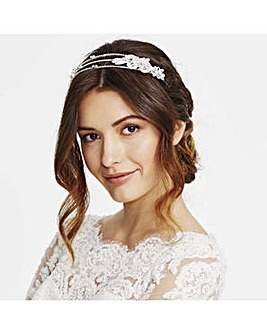 Jon Richard multi row diamante headband