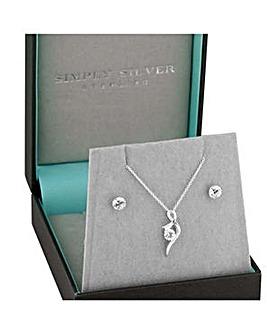 Simply Silver infinity jewellery set