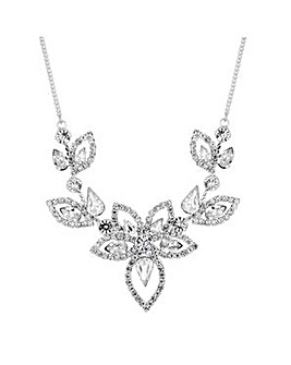 Jon Richard diamante floral necklace