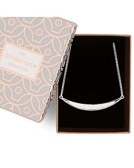 Jon Richard cream curved bar necklace