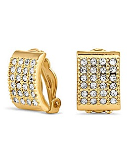 Jon Richard crystal pave square earring