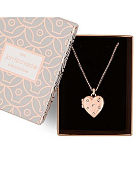 Jon Richard crystal heart locket