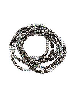 Lizzie Lee Multi Row Bead Bracelet