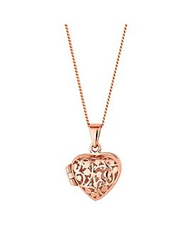 Simply Silver heart locket necklace