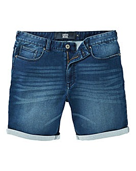 Union Blues Stretch Denim Shorts