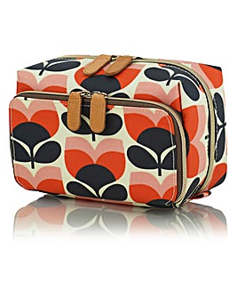 Orla Kiely Flower Stripe Medium Wash Bag
