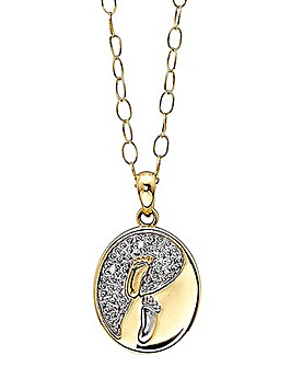 9ct Gold Footprints Pendant