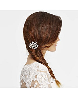 Jon Richard floral spray hair pin set