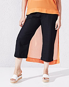 Crop Slouch Linen-Mix Trousers