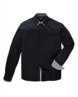 Black Label Plain Double Collar Shirt