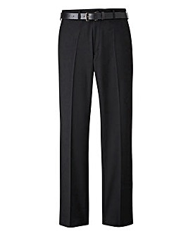Black Label Stretch Slim Belted Trouser