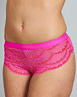 Chanelle Heart Lace Mid Rise Briefs