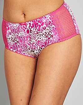 Two Pack Pink/Animal Midi Briefs