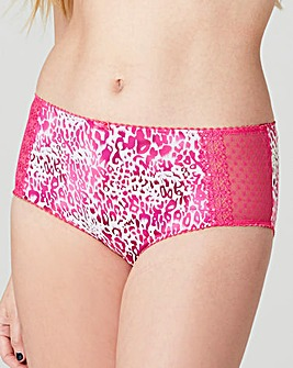 2 Pack Pink/Animal Midi Briefs