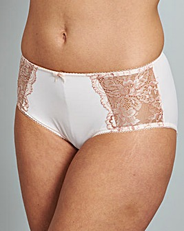 Blush/White Two Pack Ella Lace Briefs