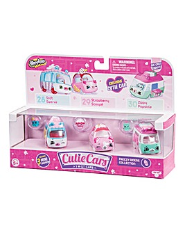 Shopkins Cutie Cars 3 Pack Freezy Riders