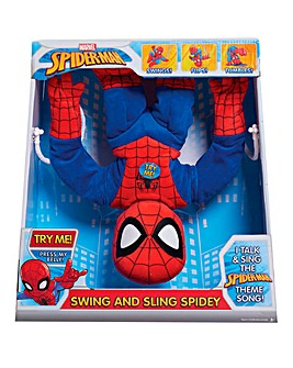 Marvel Swing & Sling Spiderman Plush