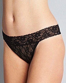 5 Pack Lace Thongs Black