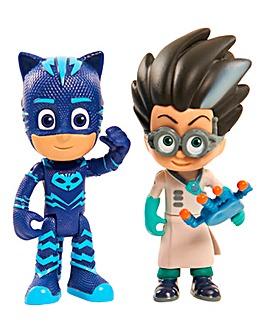 PJ Masks Light Up Figure Cat Boy & Romeo
