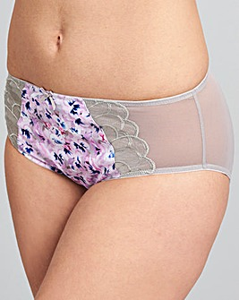 Maxine Pansy Print Mid Rise Briefs