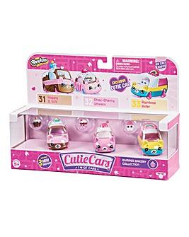 Shopkins Cutie Cars 3 Pack Bumper Bakery