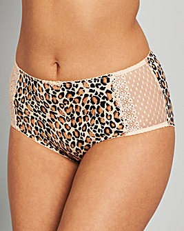 Two Pack Nat/Animal Midi Briefs