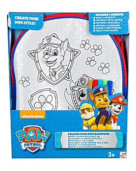 Paw Patrol Colour Your Own Backpack