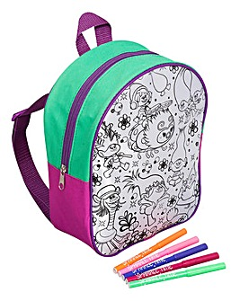 Trolls Colour Your Own Backpack