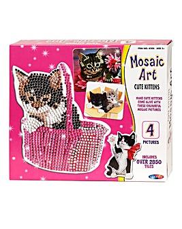 Mosaic Art Cute Kittens