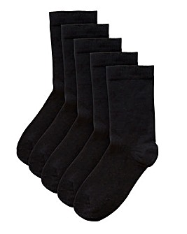 5 Pack Basic Ankle Socks