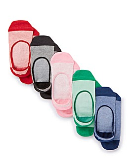 5 Pack Marl Footsie Socks