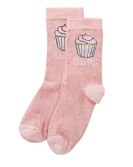 Cupcake Gift bag socks