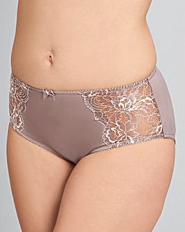 Mocha/Rose Two Pack Ella Lace Briefs