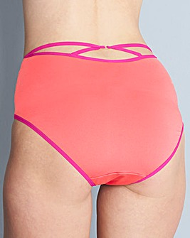 3 Pack Keyhole Back Midi Brief