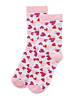 Hearts Gift bag socks