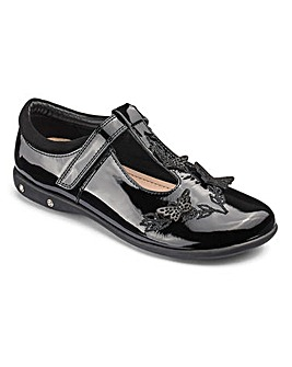 KD Girls Angelica Patent T Bar Shoes