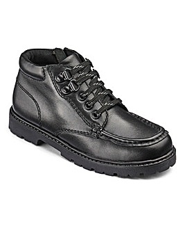 KD Boys Kaiser Black School Boot