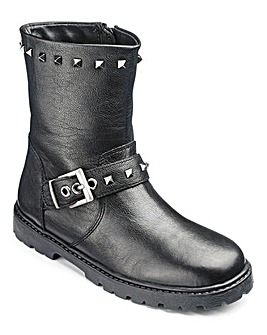 KD Girls Alexa Black Biker Boot