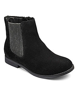 KD Girls Alice Velour Chelsea Boots