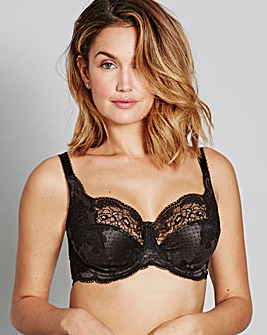 Panache Clara Full Cup Charcoal/Blk Bra