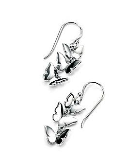 Triple Butterfly Drop Earring
