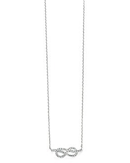 Clear Cubic Zirconia Infinity Necklace