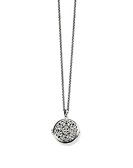 Oxidised Round Filigree Locket