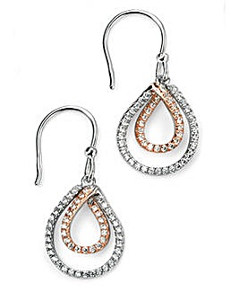Mixed Plate Triple Drop Earring